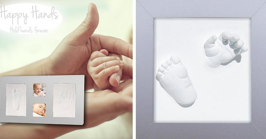 Hände halten für die Ewigkeit: mit den großartigen Baby-Abdruck-Sets