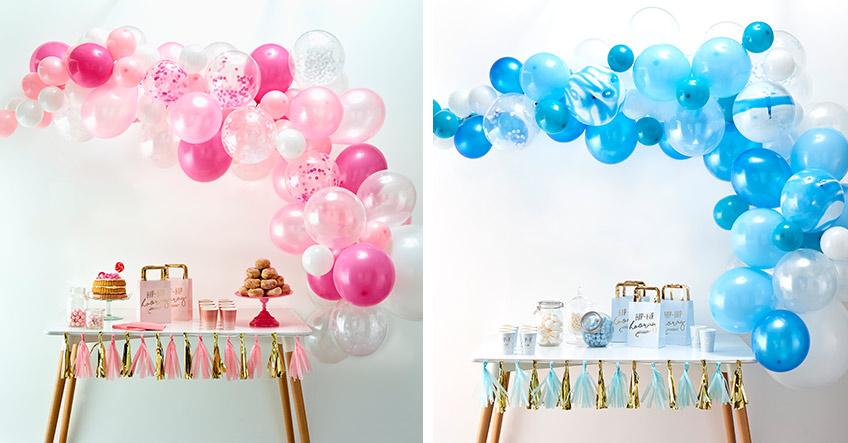 Passe die Farben der Ballongirlande deinem Deko-Anlass an