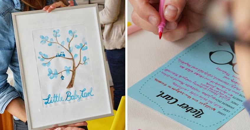 DIY-Gästebuch und Wunschkarten fürs Baby (c) tassenkuchenbäckerei