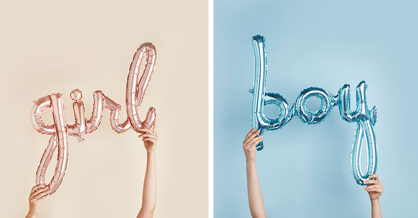 Süße Schriftzüge aus Luftballons sind auf der Babyparty wahre Eyecatcher