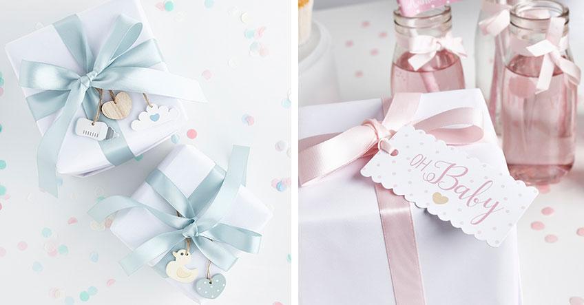 Mit der richtigen Verpackung strahlen deine Babyparty-Geschenke wunderschön
