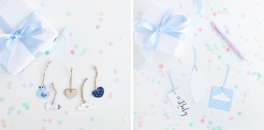 Aus Papier zum Beschriften oder Babymotive aus Holz - Geschenkanhänger machen jedes Präsent noch schöner!