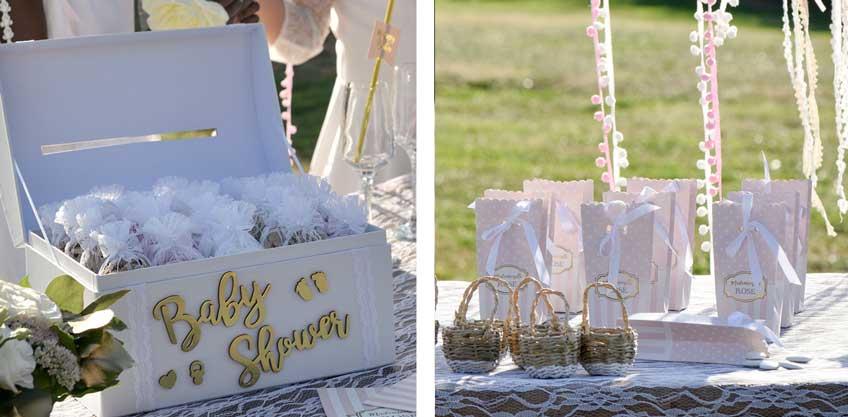 Wunderschöne Boxen für deine Gastgeschenke zur Babyparty