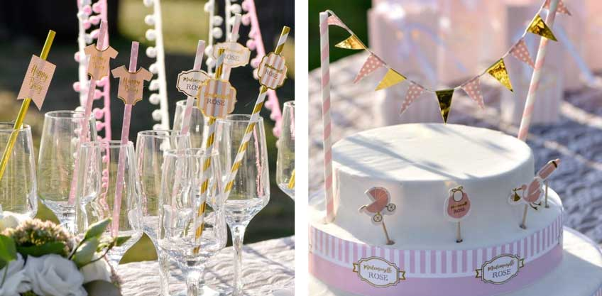 Babylätzchen, Storch & Co: Dekoriere mit klassischen Babymotiven deine Candy Bar