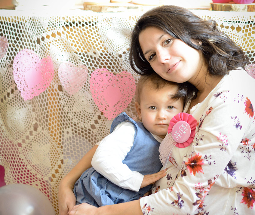 Kinder lassen sich leicht in die Babyparty einbeziehen. Copyright: Nadine Bartholdt