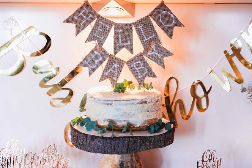 Für die Boho Babyparty: Kuchengirlande aus Jutestoff © juliafashionblonde