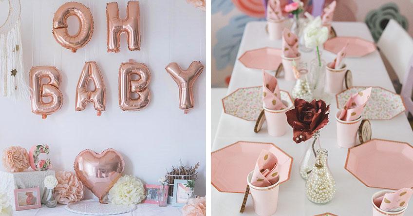 Babyparty-Deko - Stimme Tisch- und Raumdeko aufeinander ab (c) sandrasara_