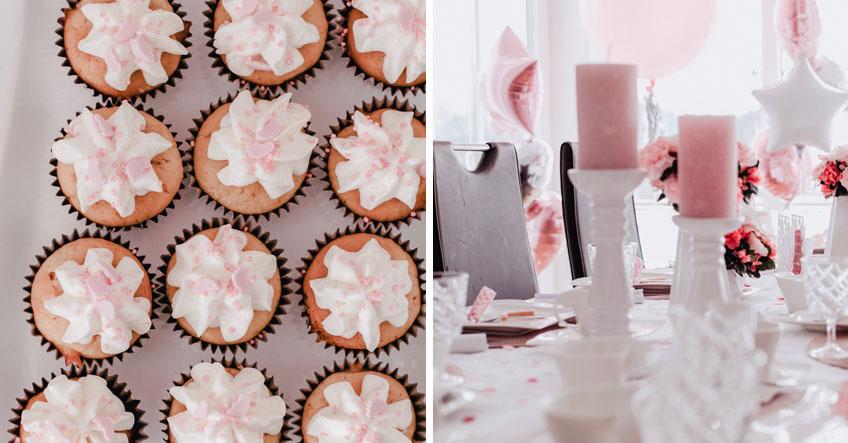 Rosa verzierte Naschereien, die zur Tischdeko passen (c) Anna Fichtner Fotografie
