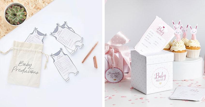 """Such dir dein liebstes Design für """"Baby Predictions"""" und lass deine Babyparty-Gäste die Attribute des Baby erraten"""