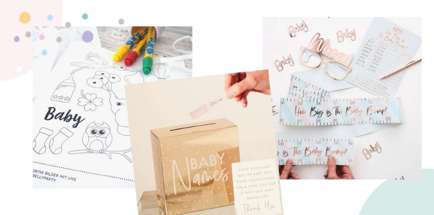Erweitere das virtuelle Babyparty-Programm beliebig mit ein paar Extra-Spielen aus unserem Shop und anderen Ideen