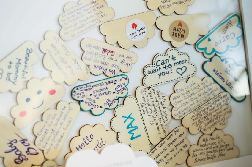 Süßes alternatives Gästebuch mit schönen Wünschen © annett.moeller.amco
