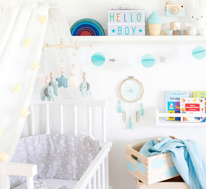 Richte das Babyzimmer oder Babyeck liebevoll und schön ein (c) mamigurumi.de