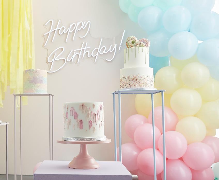 Ob zur Babyparty oder zum 1. Geburtstag - in Pastelltönen ist deine Ballongirlande einfach nur süß