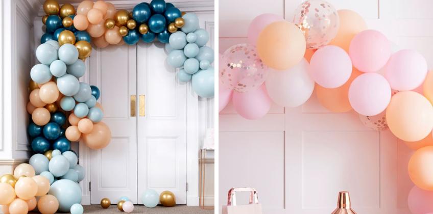 Spiele bei deiner Ballongirlande mit Farben und Formen der Ballons für tolle Effekte