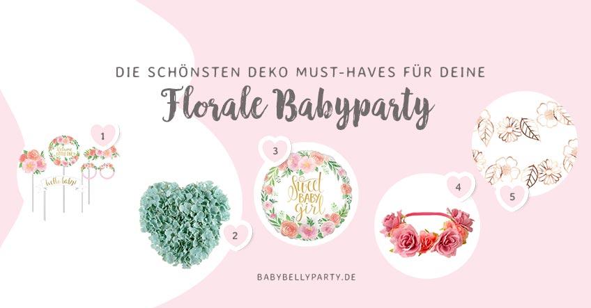 Hol dir wunderschöne Deko-Accessoires auf deine florale Baby Shower