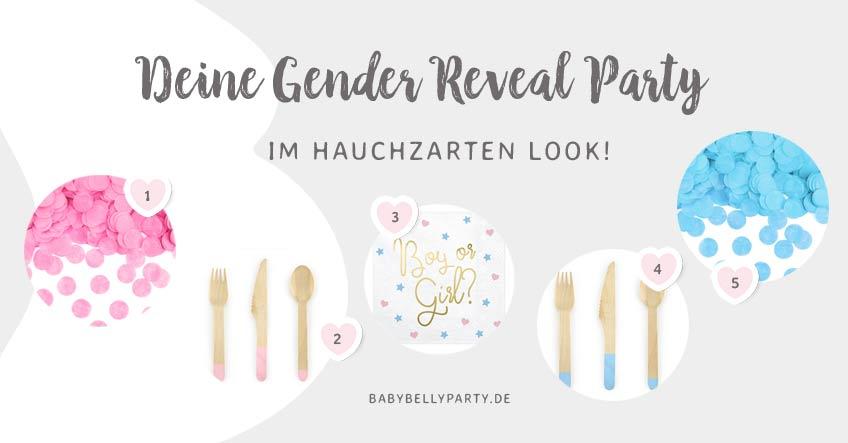 Gender Reveal Party: Mit diesen Party-Accessoires wird deine Deko luftig-leicht