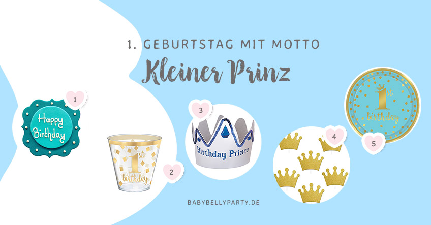"""Noch mehr schöne Geburtstagsdeko passend zum Motto """"Kleiner Prinz"""" findest du in unserem Shop!"""