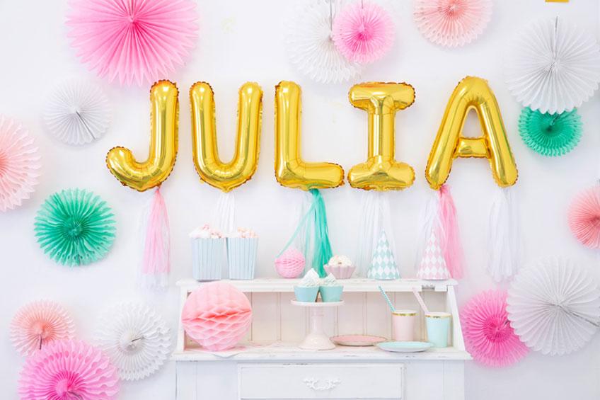 Einzigartige Deko: Mach deine Partydeko persönlich durch Schriftzüge in Buchstabenballons