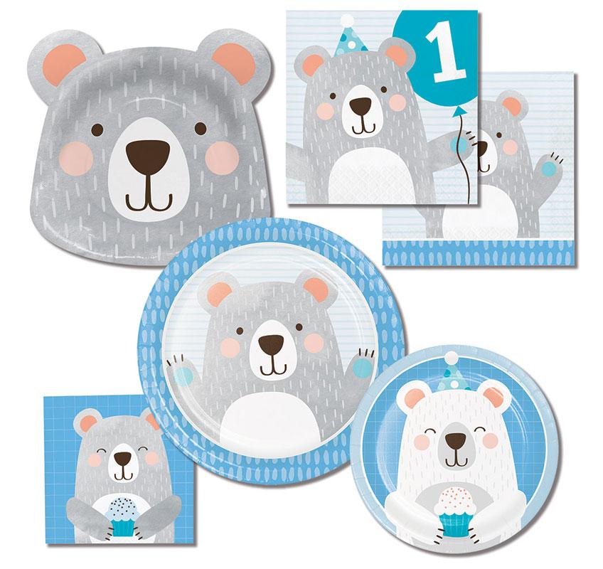 Für den 1. Geburtstag deines Sohnes halten wir tolle Bären-Deko im Shop bereit
