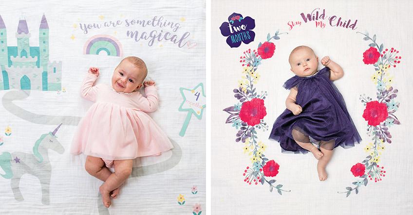 Für süße Prinzessinnen und Boho-Girls: unsere Meilensteindecken für Mädchen