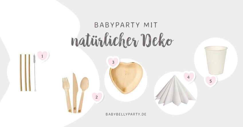 Versuch es nachhaltig - mit diesen tollen Babyparty-Produkten