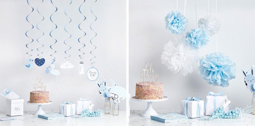 Niedliche Deko für deine Baby Shower in Blau und Weiß | Baby Belly ...