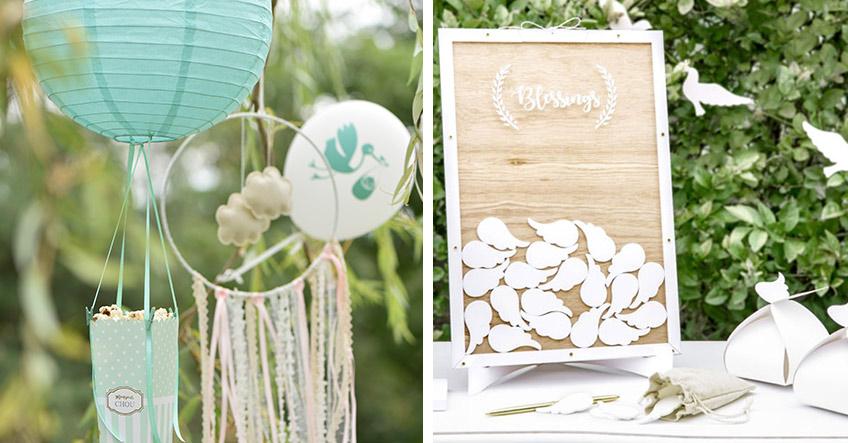 Wunderschöne Taufdeko - kombiniere Mintgrüne Deko mit Weiß