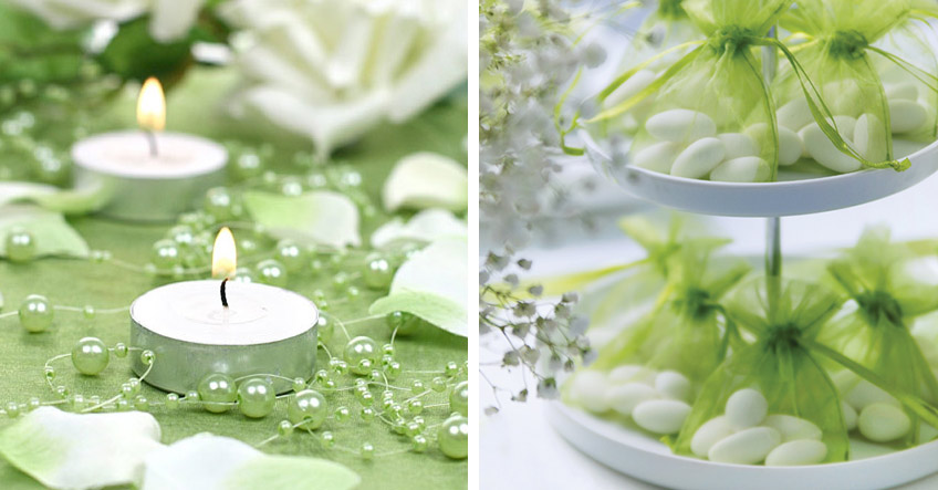 Wunderschöne Grüne Dekoration Für Die Taufe Baby Belly