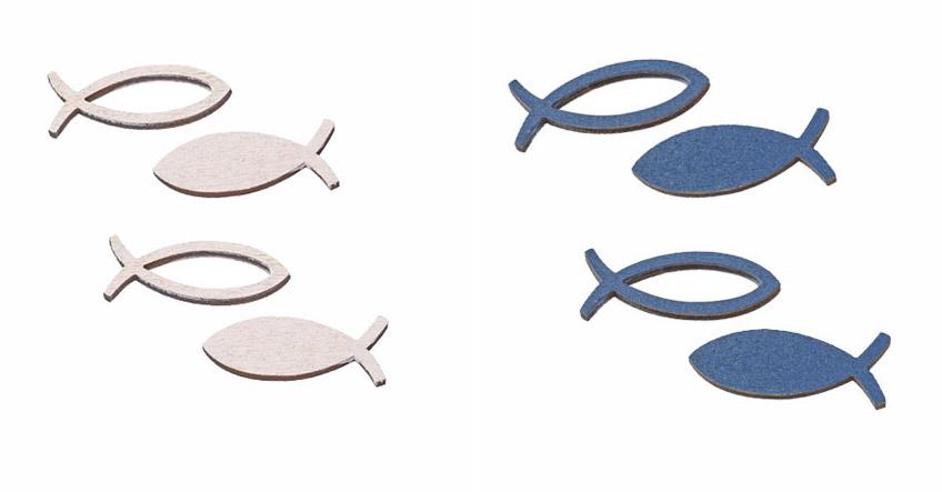 Dekoriere deine Taufe passend mit kleinen Fisch-Streuteilen