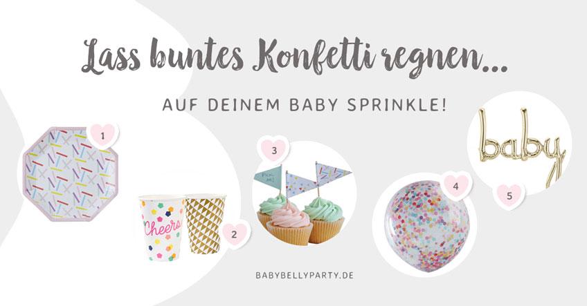 Weitere schöne Produkte passend zum Baby Sprinkle und zur Babyparty findest du in unserem Shop