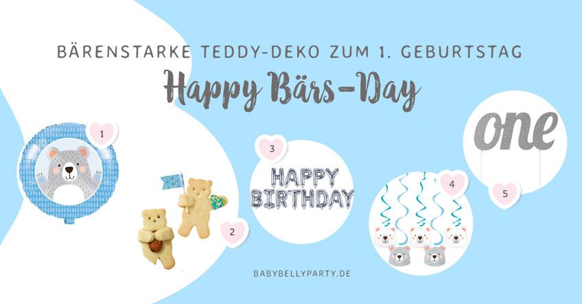 Noch mehr Geburtstagsdeko passend zum knuffigen Bären-Motto findest du in unserem Shop!