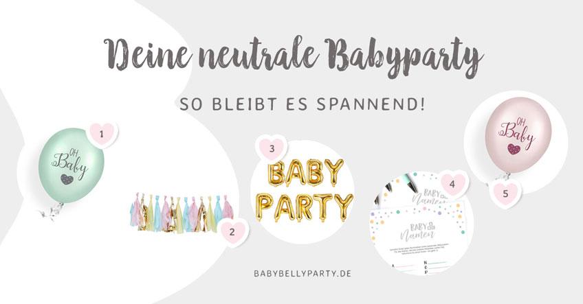 Noch mehr schöne Deko für deine neutrale Babyparty findest du bei uns im Shop!