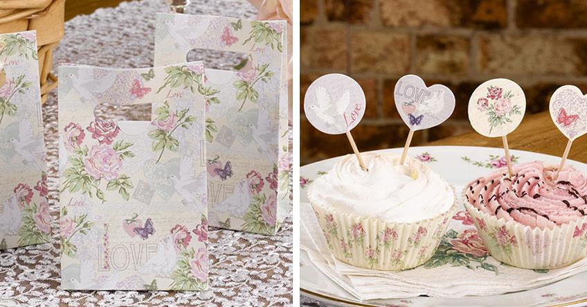 Blumenmuster zur Taufe - beliebte Vintage-Deko