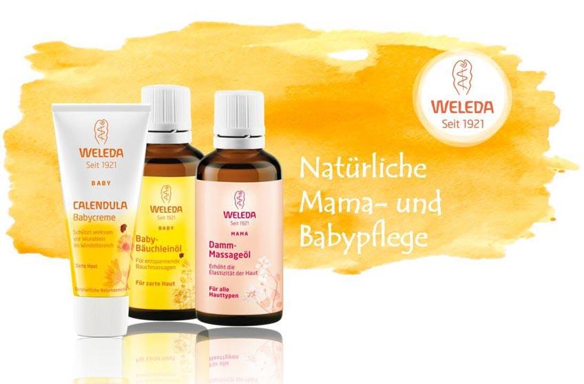 Verschenke Pflege für die Bald-Mama zur Babyparty (c) Weleda