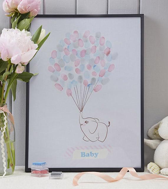Leinwand Fingerabruck Babyparty Geschenk Baby Erstes Zimmer Jpg