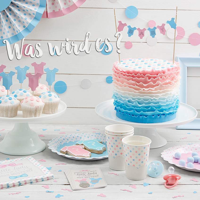 Little Lady or Mini Mister - schöne Dekoration für die Gender Reveal
