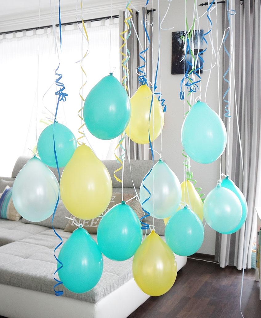 Bunter Luftballon Vorhang Als Kindergeburtstags Deko