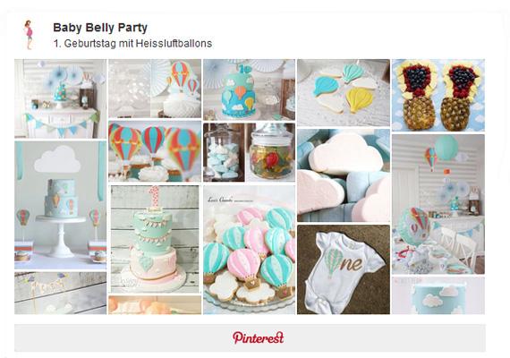 Pinterest Pinnwand 1 Geburtstag Heissluftballonsjpg Baby