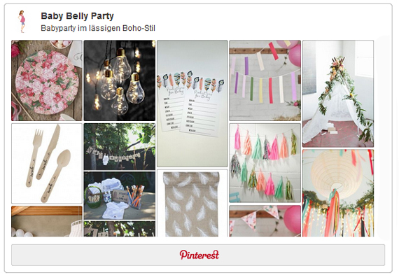 Pinterest Pinnwand Für Die Boho Party Baby Belly Party Blog
