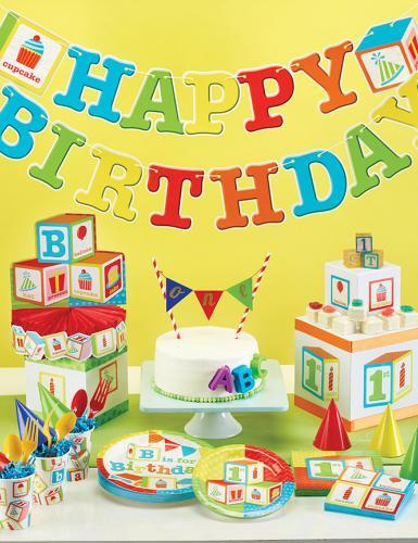 Mit unserer bunten 1.Geburtstags-Deko-Kollektion bringt ihr Farbe in eure Partyräume