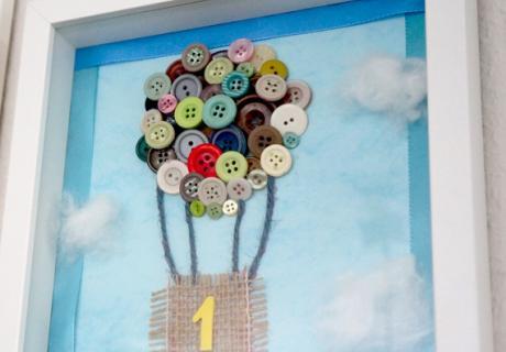 DIY Heißluftballon aus Knöpfen