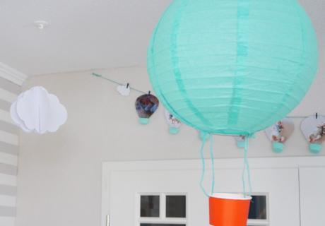 DIY - selbstgebastelter Heißluftballon