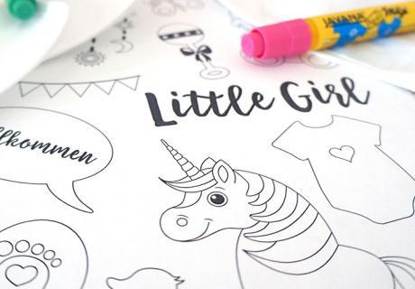 Little Girl - Süße Motive zum gratis Download für eure Babyparty Spiele