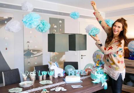 Annett überrascht ihre Freundin mit einer tollen Babyparty in Mint und Roségold © annett.moeller.amco