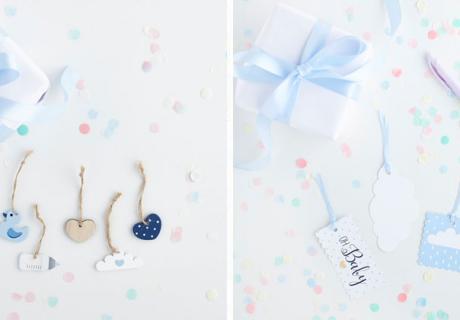 Aus Papier zum Beschriften oder Babymotive aus Holz - Geschenkanhänger machen jedes Mitgebsel noch schöner!