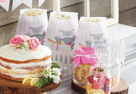 Superschön - unsere rosa Bauernhof-Deko zum 1. Geburtstag