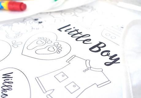 It's a Boy! Süße Malvorlagen zum Bemalen von Bodies und Co auf eurer Babyparty