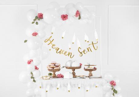 Mit Blumen eignet sich die Heaven-Sent-Deko perfekt für Mädchen