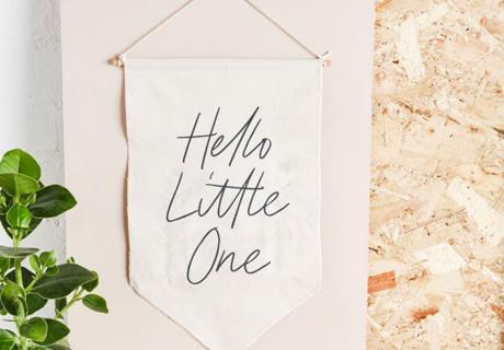 Schenk zur Babyparty oder Geburt was Dekoratives fürs Babyzimmer
