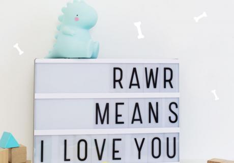 Letterbox und Nachtlicht im Dinomotiv - so erhellt ihr den ersten Geburtstag eures Lieblings